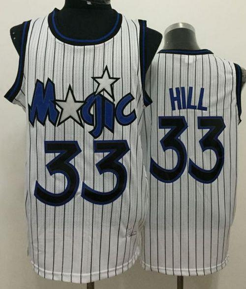 los angeles 73a70 64d94 Magic #33 Grant Hill White Throwback Stitched NBA Jersey ...